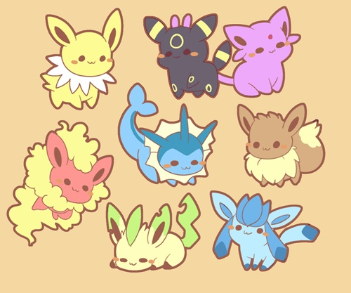 I didn't think there was a way to make the eeveelutions even cuter, but I was wrong. ;w;