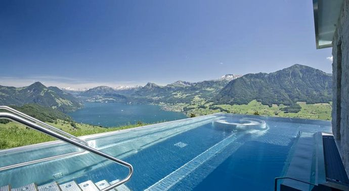 Hotel villa honegg ennetburgen switzerland most amazing swimming pools pinterest around for Most amazing swimming pools in the world