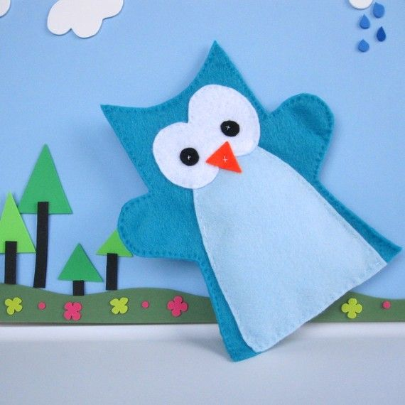 Owl Hand Puppet by Mariapalito