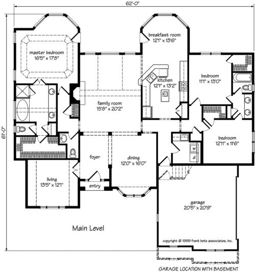 Sanderson place home plans and house plans by frank betz for Betz house plans