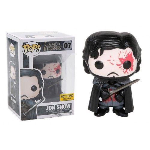 Funko Pop! Bloody Jon Snow, Hot Topic Exclusive, Game of Thrones, HBO, GOT, Funkomania, Séries