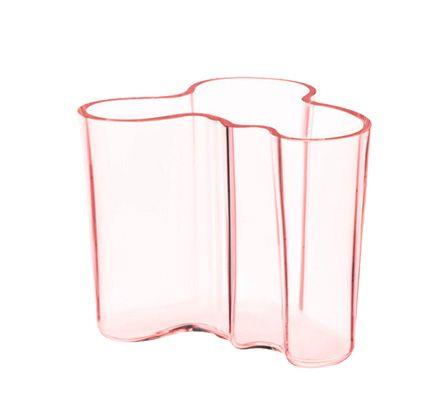 Isoin Iitala Aalto maljakko, väri joko kirkas, vaaleanpunainen, turkoosi. Käytetty käy oikein hyvin, sillä tämä on kovin kallis