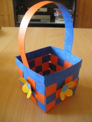 Jarní košíček 2 - prostorová práce