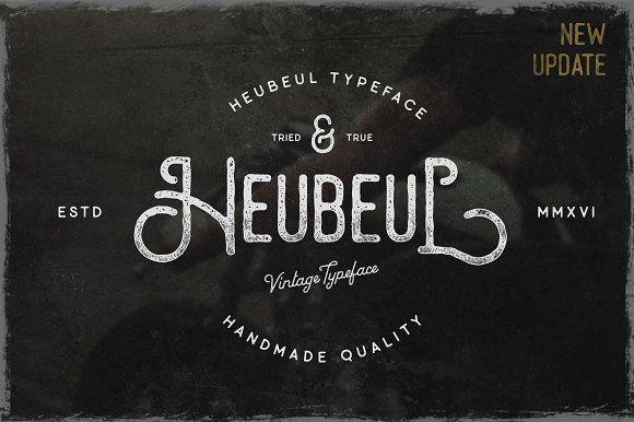 Heubeul Vintage Typeface (UPDATE) by pratamaydh on @creativemarket
