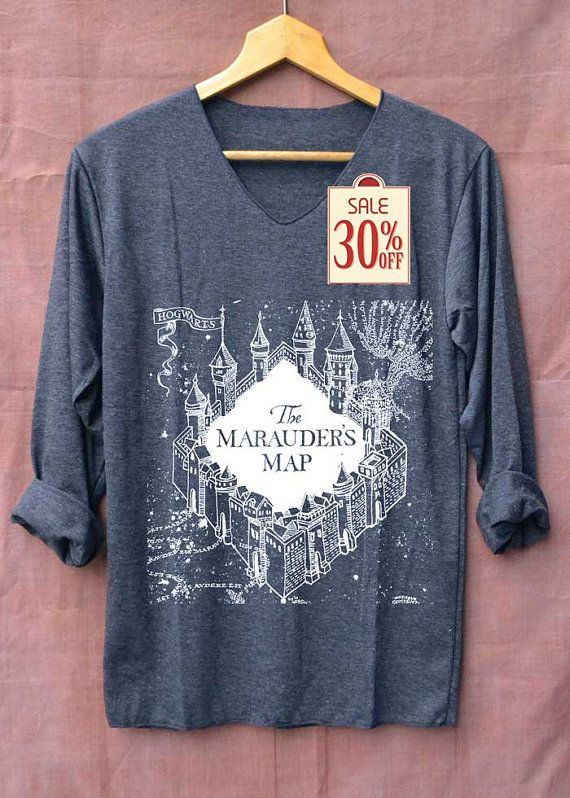 The Marauder's Map Shirt Harry Potter Shirts Long Sleeve Unisex Adults Size S M L