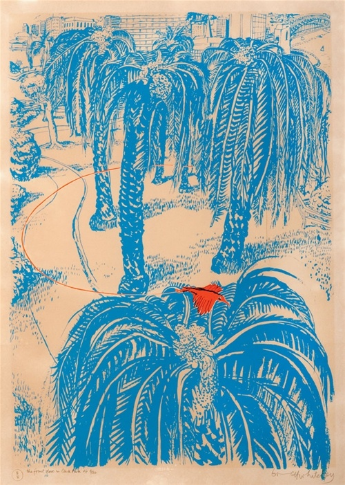 Brett Whiteley, 'The Fruit dove in Clark Park.'