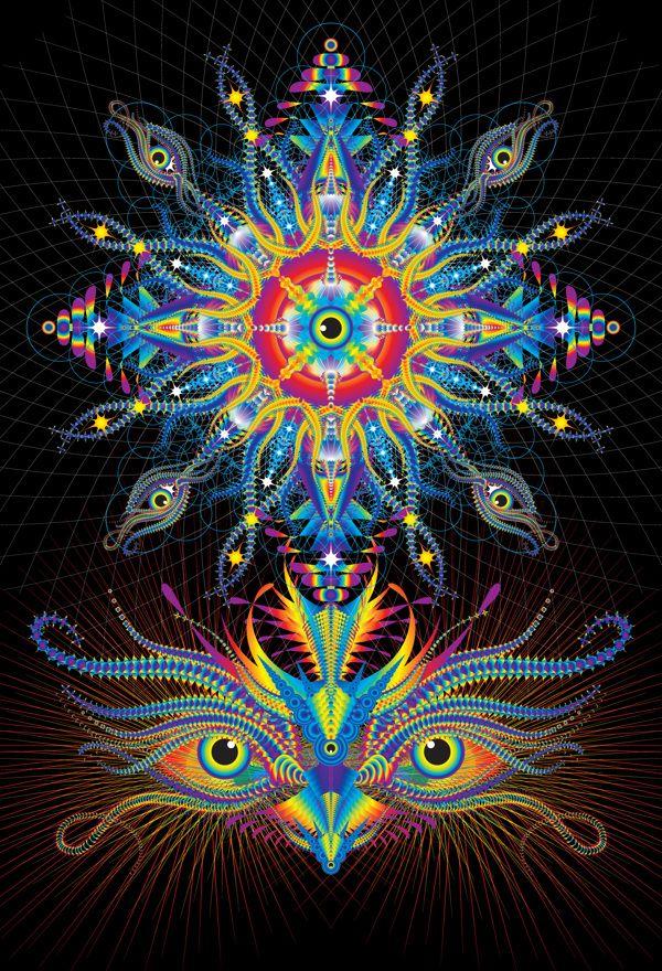 Third Eye Chakra...un preciosísimo mandala lleno de belleza y poder.