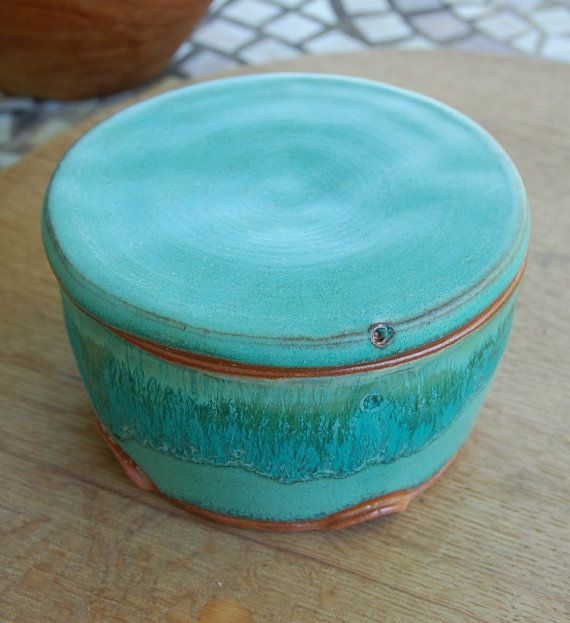 French butter bell in turquoise from Page Pottery