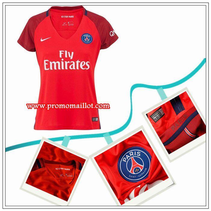 Les Maillot PSG Femme Exterieur Rouge Nike 2016/17 Chine