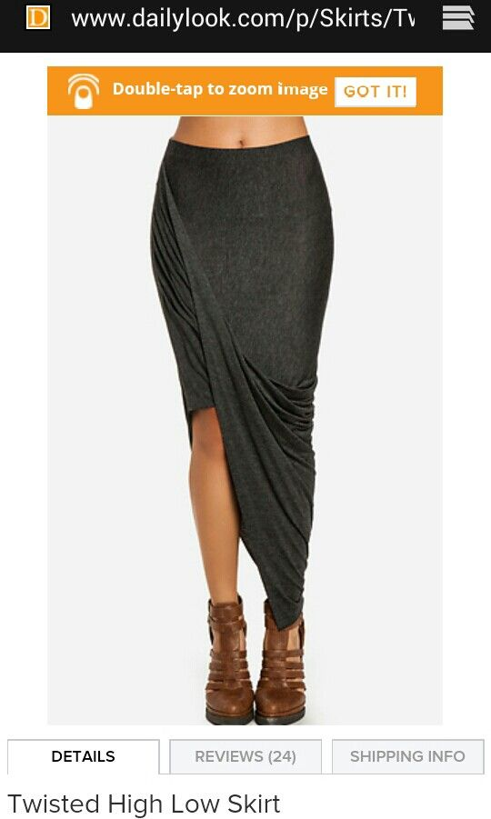 Love this twisted high low skirt. Comes in several colours from dailylook
