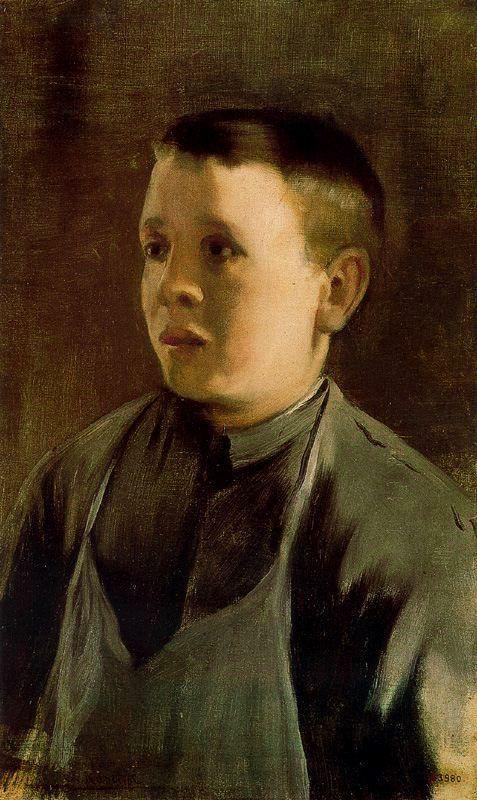 Retrato de niño - Santiago Rusiñol