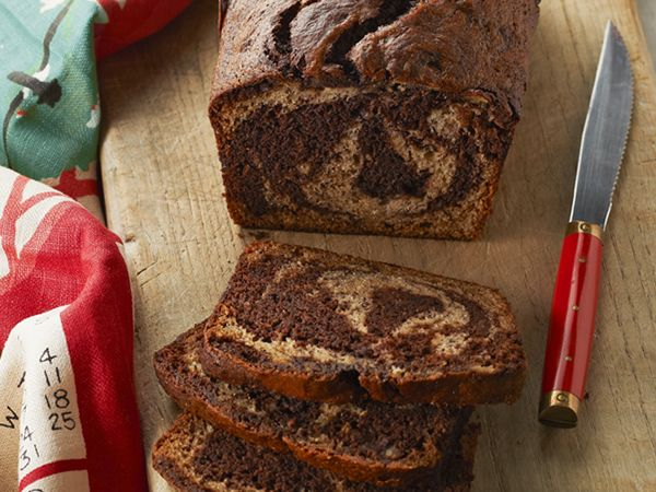 Recipes - Desserts,Sides - Chocolate-Marbled Banana Bread - Kraft First Taste Canada