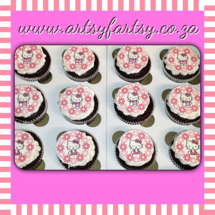 Hello Kitty Edible Picture Cupcakes