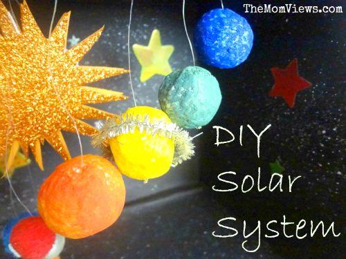 Diy Solar System Model Kids Crafts Pinterest Models