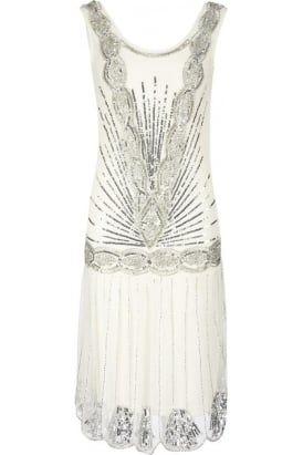 GatsbyFlapper Dress #PrettyEccentric #Bride #Bridal #Wedding #Vintage #Beaded #Gatsby #Flapper #1920s #Twenties