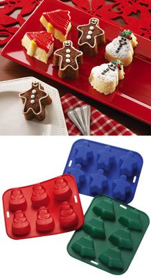 Silicone Holiday Baking Pans - Set of 3