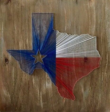 Texas Flag String Art  Made to Order by 20SomethingOldLady on Etsy