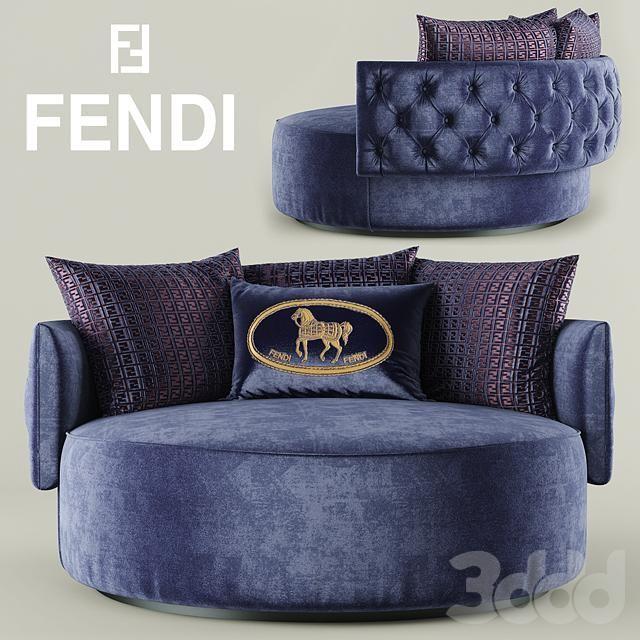 Кресло Fendi Casa Efea Capitonne