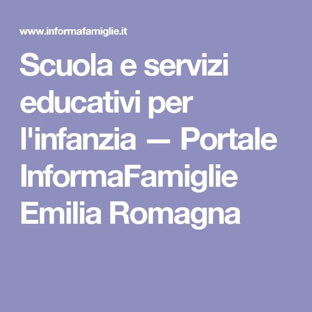 Scuola e servizi educativi per l'infanzia — Portale InformaFamiglie Emilia Romagna