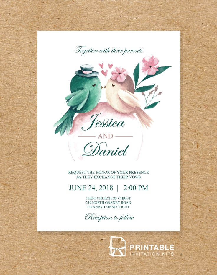 Free to download and print PDF wedding invitation - Printable Invitation Kits