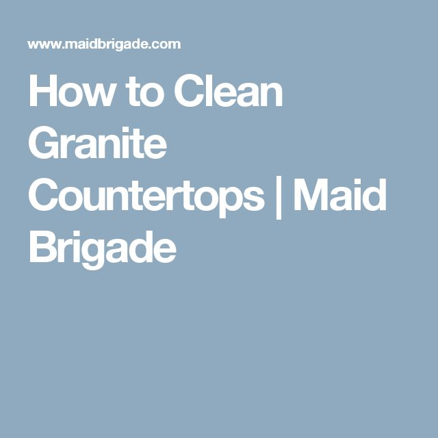 Have You Ever Wondered How To Clean Granite Countertops? There Are Specific  Products To Avoid, But You Can Easily Make Your Own Granite Cleaning Spray.