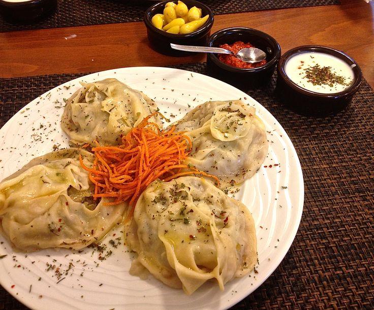 Uzbek manti/ravioli. Yum! #Kadikoy #Istanbul