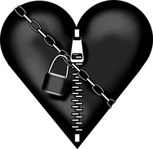 A HEART THAT IS CHAINED AND LOCKED UP WILL TURN BLACK.