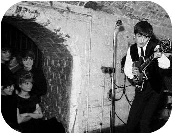 At The Cavern in Liverpool.I never did see The Beatles BUT The Cavern stank of hamburgers and stale sweat ! Much romanticised !Christine