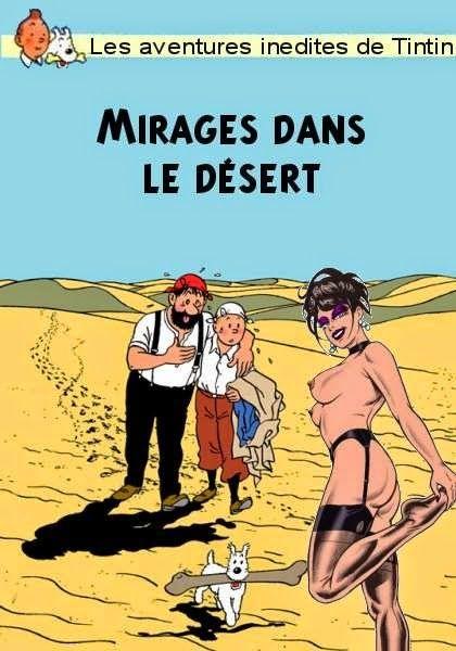 Tintin : les aventures apogryphes, parallèles et interdites