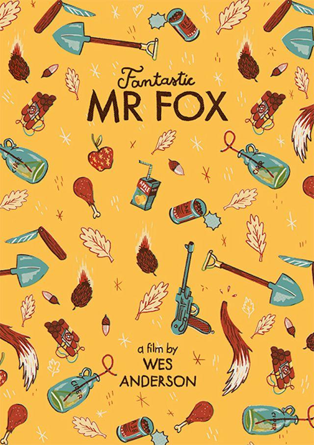 Wes Anderson: Fantastic Mr Fox by Andres Lozano