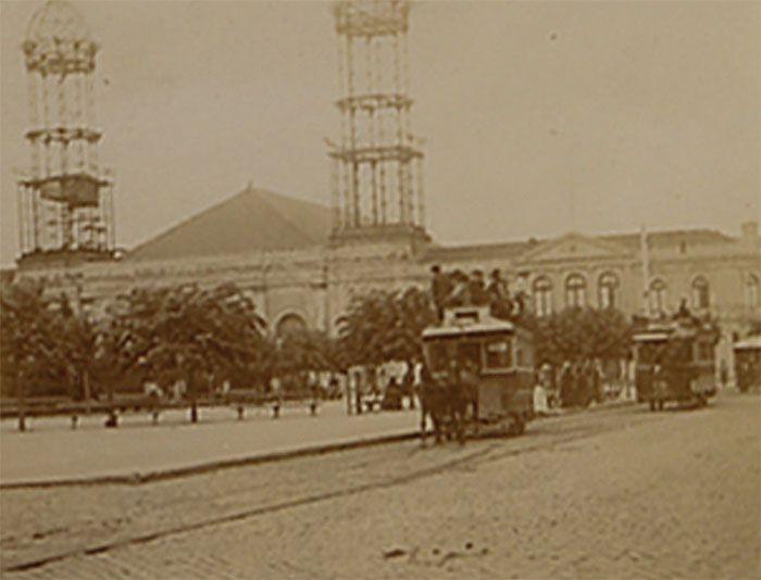 Construcción de las torres de la Catedral de Concepcion