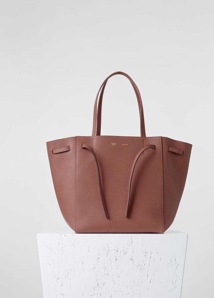 celine camel leather handbag cabas phantom