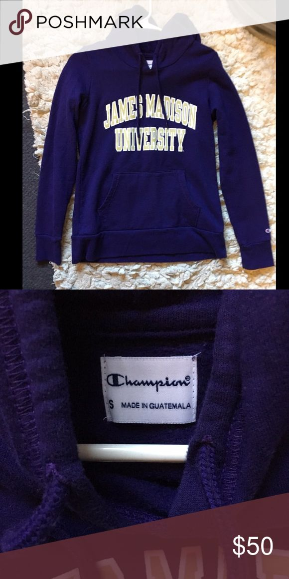 NWOT James Madison Universiru (JMU) sweatshirt Never worn because I chose a different college haha. Perfect condition! Very soft and cozy Champion Tops Sweatshirts & Hoodies