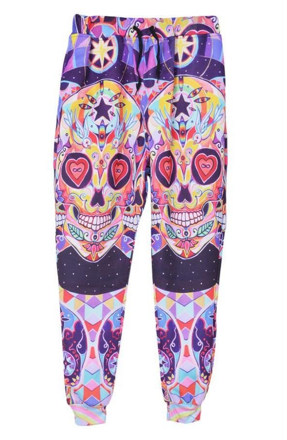 stylish pants- colorful skulls. love it!