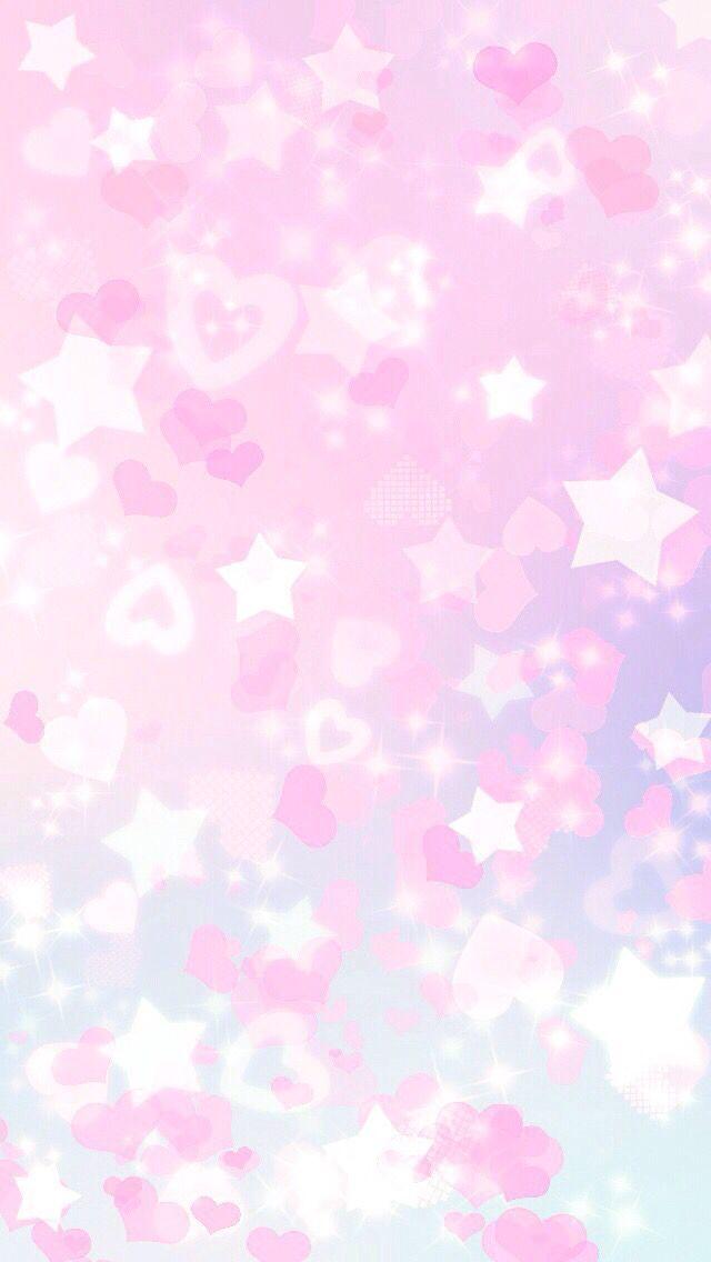 Pink Hearts And Stars Bokeh Iphone Wallpaper Pinkchevronwallpaper