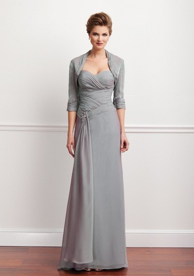 Mother Of The Groom Dress With Scattered Beads I D