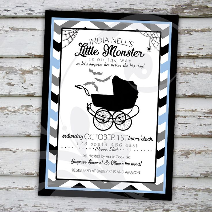 """Little Monster Surprise Baby Shower Invitation 