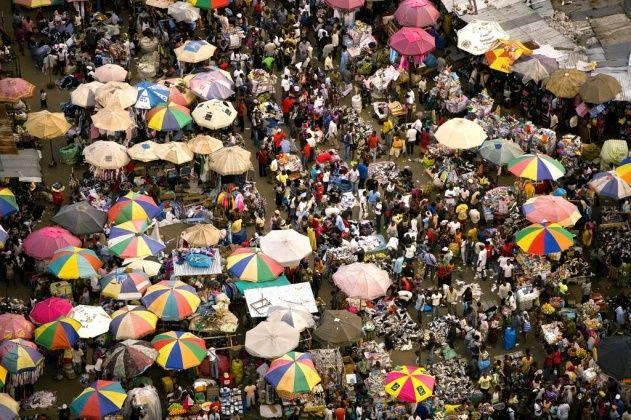 Gabon, Libreville, Mont-Bouet market