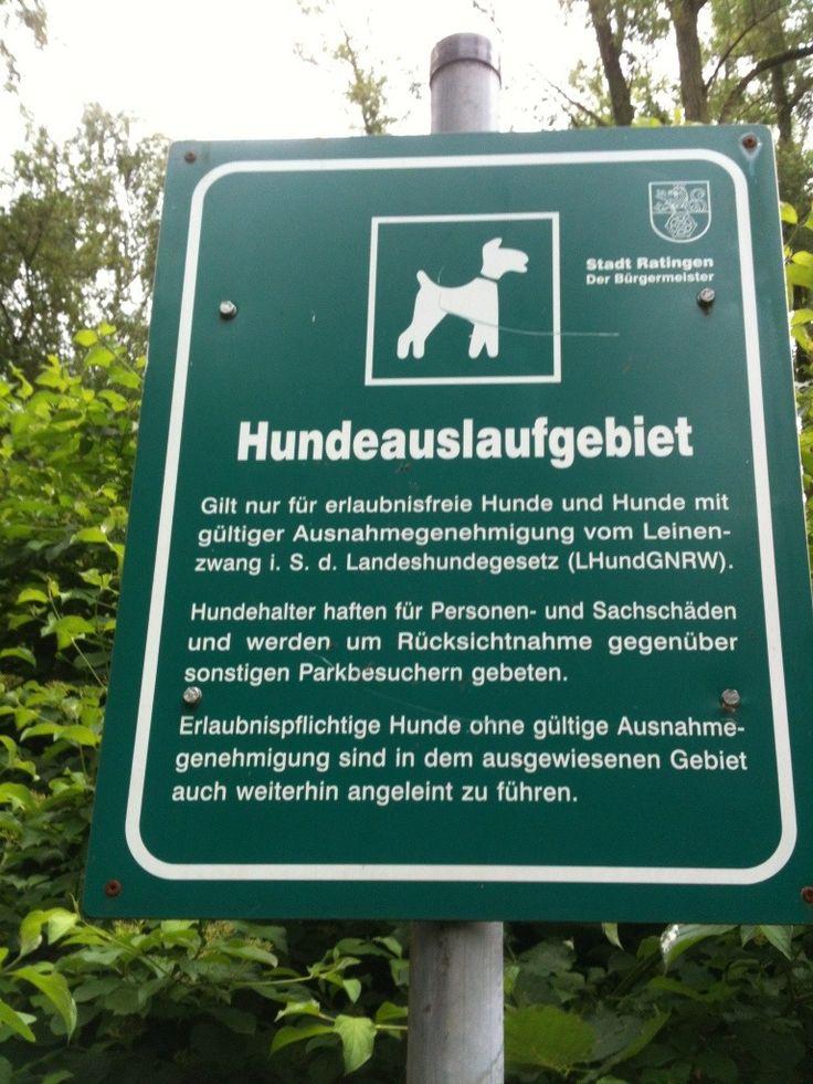Hundeauslaufgebiet in Ratingen