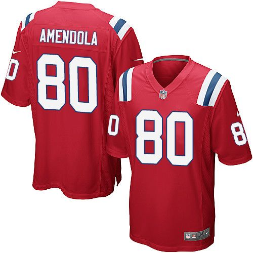 Nike New England Patriots Youth #80 Danny Amendola Limited Red Alternate NFL Jersey