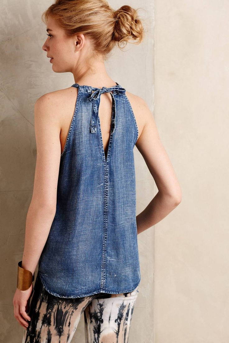 Chambray Halter Tank by Cloth & Stone #anthrofave