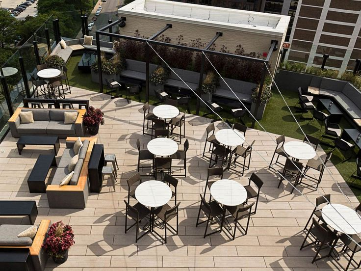 The J. Parker, rooftop restaurant and bar/lounge of Hotel Lincoln, views of Lincoln Park: 1816 N. Clark Street