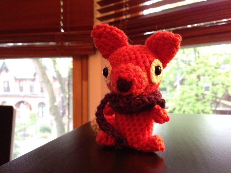 Crochet fox made for my friend Jessica Lesage.