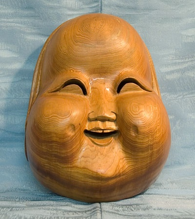 wood Japanese mask