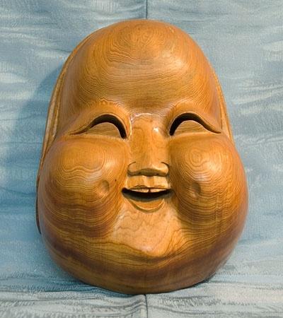 wood Japanese mask
