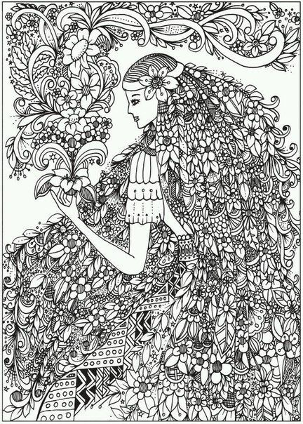 Creative haven belles and blossoms coloring book dover publications