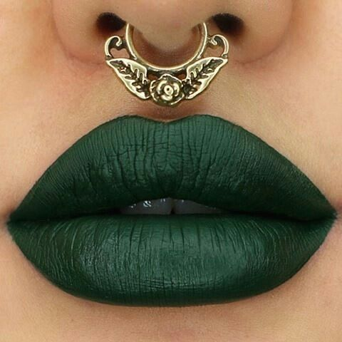 "colouredraine matte lip paint in ""Ivy"""