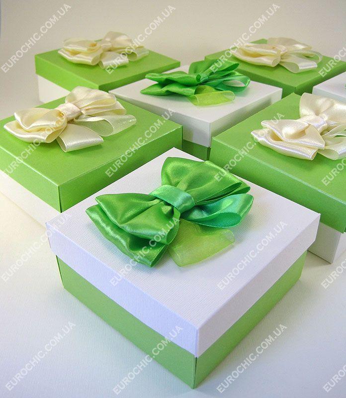 Бонбоньерки на свадьбу Очарование яблочно-зеленые