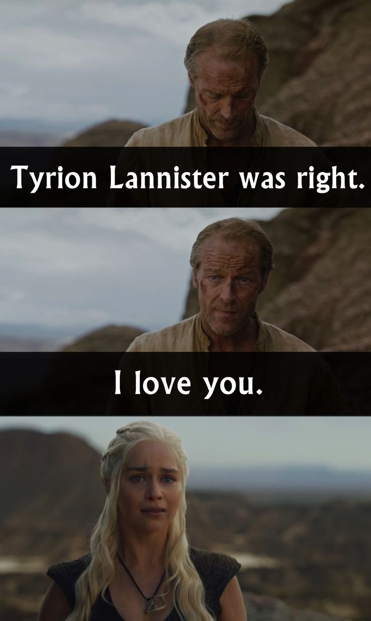 """All """"friend zone"""" jokes apart, this was a heart-breaking moment.   Jorah & Daenerys.   - Game of Thrones"""