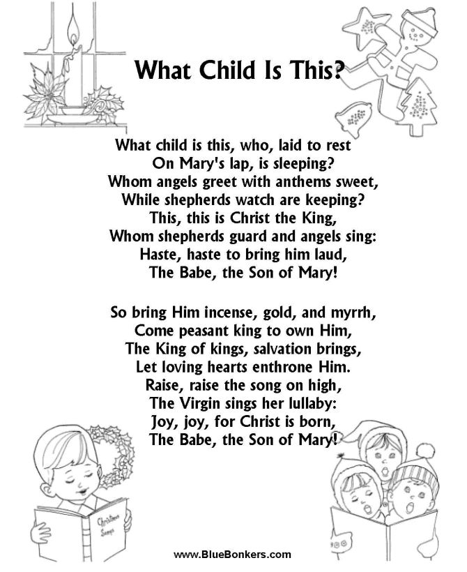 Sheet Music And Lyrics To Joy To The World: CRISTMAS CAROL WORDS - Bing Images